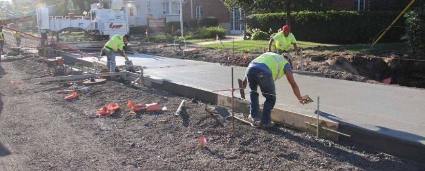 Concrete Road Construction Site